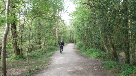 The Pentewan Trail - nimble Bromptons were brilliant and received lots of attention too